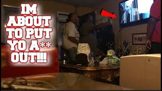 BROKEN TV SCREEN PRANK ON MOM!!! (SHE KICKED ME OUT)