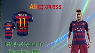 Aliexpress unboxing haul (97) - Maglia Neymar Barcelona soccer jersey 2016 Nike calcio camisa