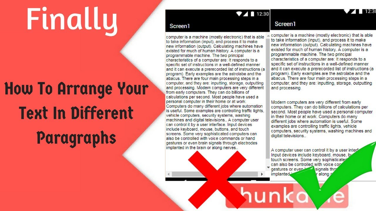 How To Arrange Your Text In Different Paragraphs Thunkable || Text Formatting In Labels #1