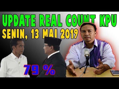 BERITA TERKINI 13 MAI 2019 ~ UPDATE REAL COUNT KPU SUDAH 79%, SIAPA UNGGUL JOKOWI ATAU PRABOWO ?