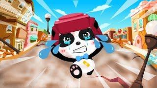 Малыш Панда Попал в Землетрясение.Поможем Панде.Спасайся кто Может.Игры для детей про Панду(panda)