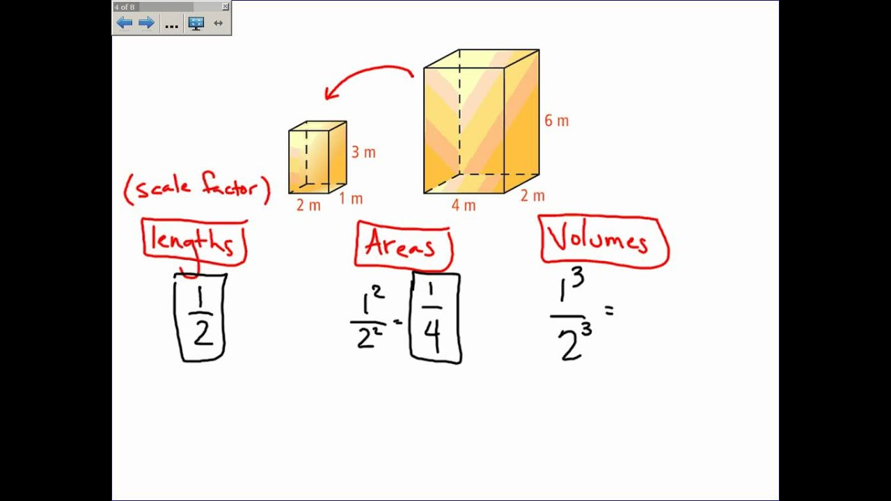 how to find similarity ratio with volume