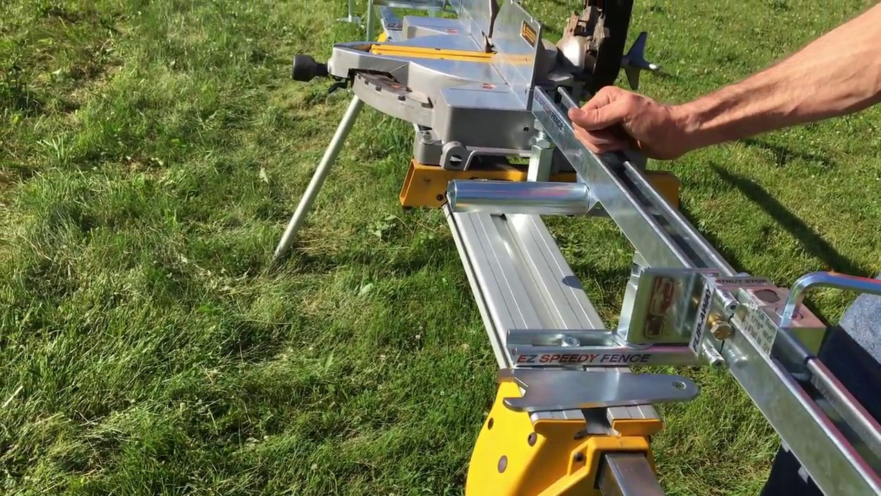 Ez Speedy Fence Adjustment Points For Dewalt Miter Saw Youtube