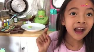 Zara Cute bikin Coklat Dinosaurus | Kids Activity