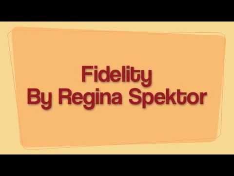 Fidelity- Regina Spektor(LYRICS ON SCREEN)