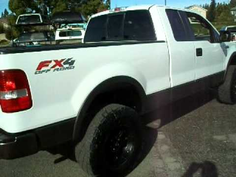 2005 ford f150 super cab fx4 4wd lifted youtube - White 2005 Ford F150 Lifted