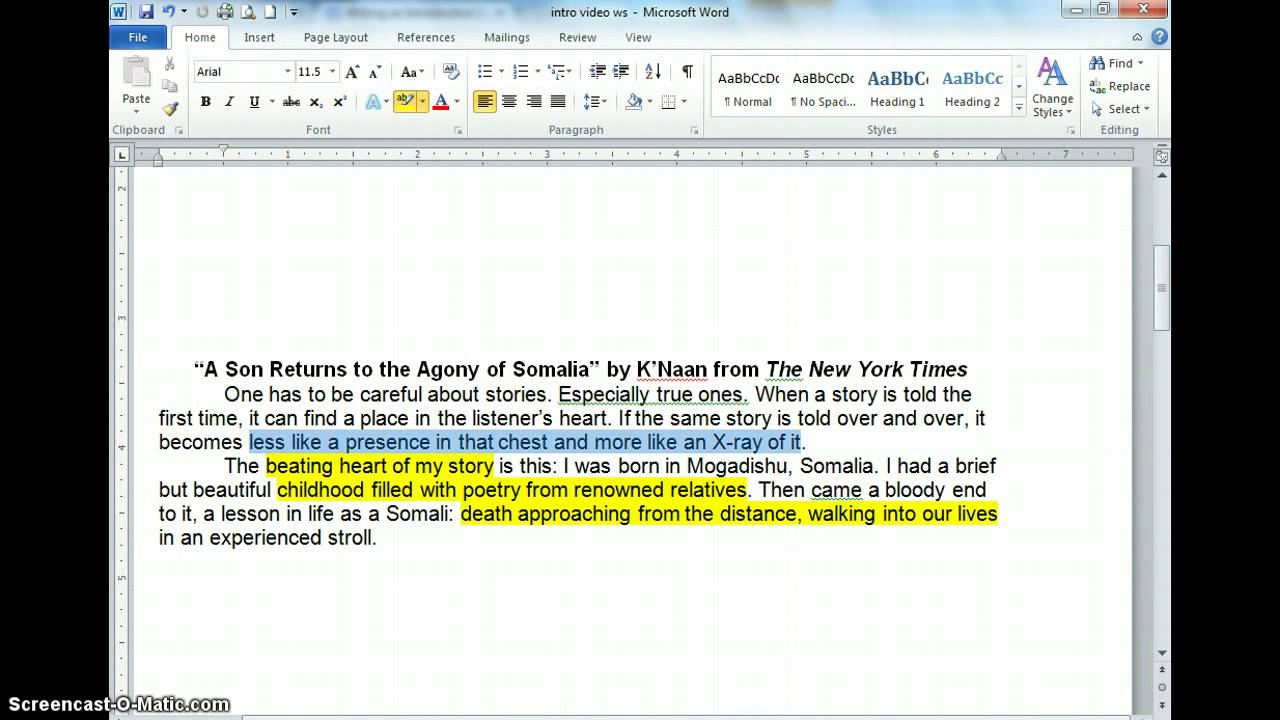 Introduction Writing for Narrative Essay  YouTube