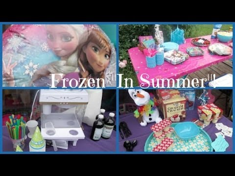 """Disney Frozen """"In Summer"""" Birthday Party! from YouTube · Duration:  3 minutes 13 seconds"""