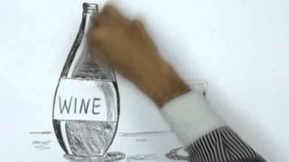How to Draw a Wine and Glass