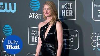Laura Dern cuts a sharp look in black gown at Critics' Choice