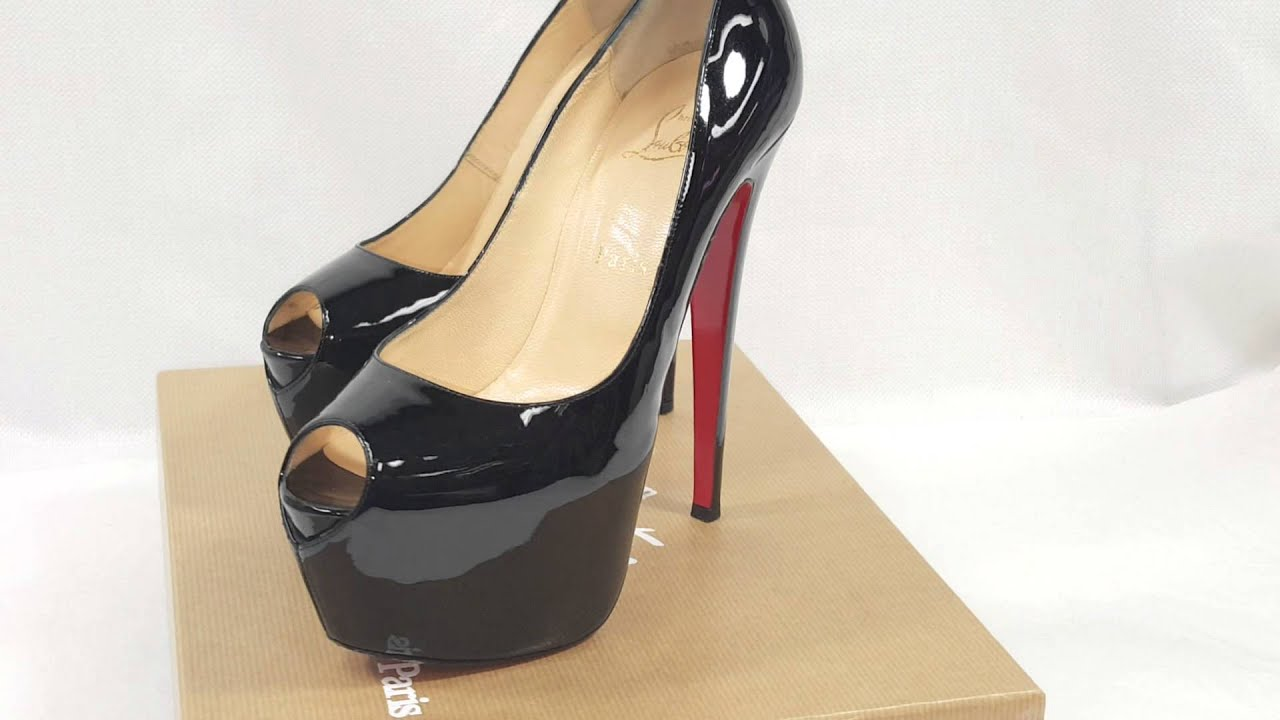 christian louboutin jamie peep-toe leather platform pumps