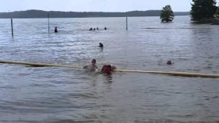 Little boys swim