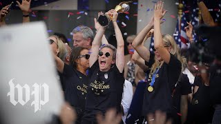 'Equal pay, equal pay!:' Highlights from U.S. women's soccer victory parade in New York