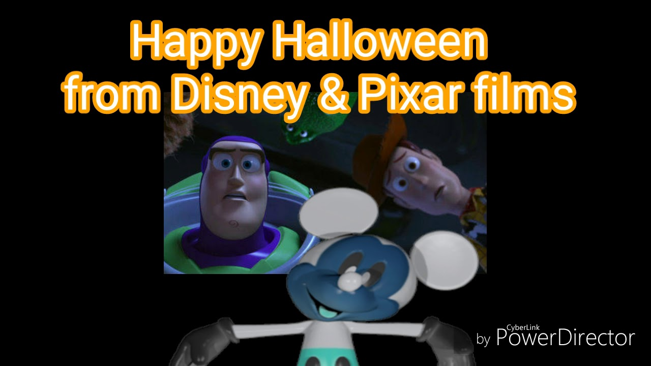 happy halloween from disney pixar films waring jumpscare ear rape