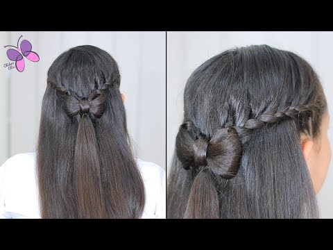 pull-back-braids-into-a-hair-bow-|-cute-girly-hairstyles-|-hairstyles-for-long-hair