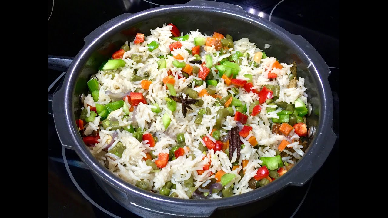 Pressure cooker vegetable pulao video recipe veg rice recipe youtube premium forumfinder Image collections