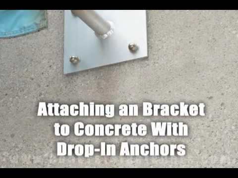 Bracket Attached to Concrete with Hilti Drop-in Anchor