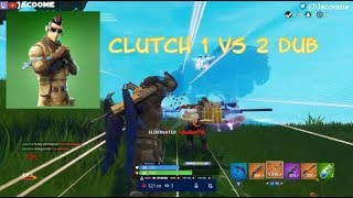 NOUVEAU ARMADILLO SKIN CLUTCH 1 VS 2 FOR THE WIN - Fortnite Battle Royale