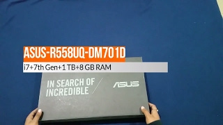 Unboxing Asus R558UQ-DM701D (Best Budget laptop for gaming 2017) !!