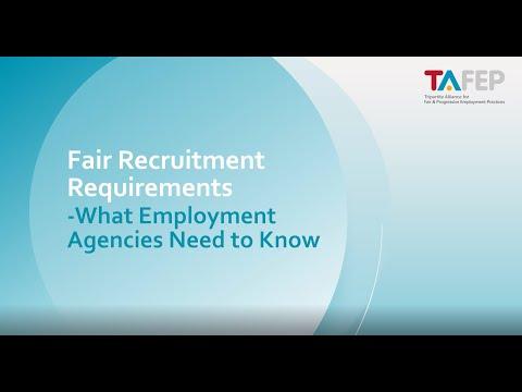 Fair Recruitment Practices for Employment Agencies