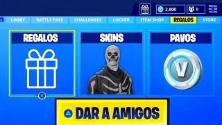 Give SKINS and PAVOS to Friends in Fortnite Battle Royale!