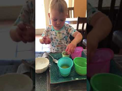 Easter egg painting/science experiments