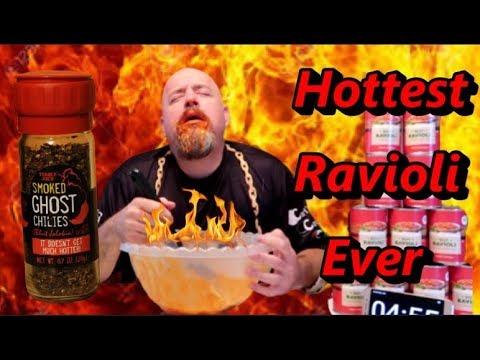 HOTTEST RAVIOLI EVER – 10.3 lbs BEEF RAVIOLI & GHOST PEPPERS