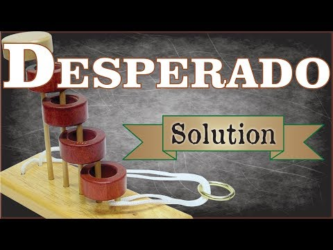 Solution for Desperado from Puzzle Master Wood Puzzles