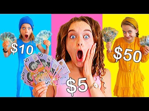 BUYING ANYTHING IN YOUR COLOR MONEY (real) Challenge By The Norris Nuts