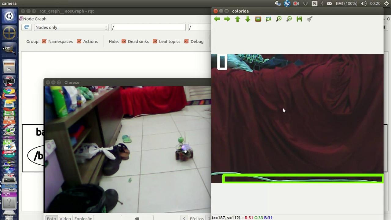 Primeiro programa usando ROS (Robot Operating System) em conjunto com  openCV