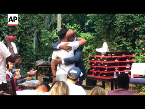 Stephon Marbury Surprised By Beijing Fan at NYU Event