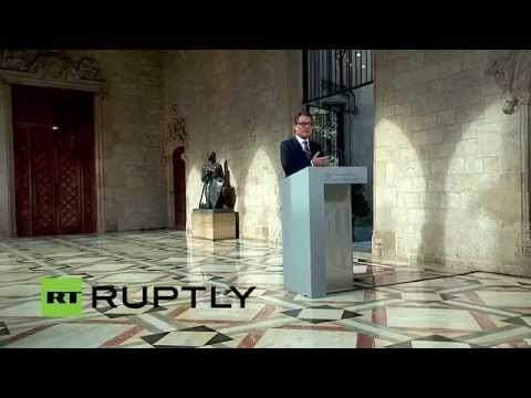 LIVE: Artur Mas signs decree calling referendum on Catalonia's independence