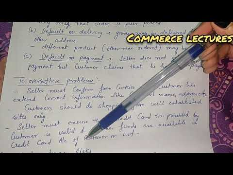 security and safety of e business / e business risk || emerging modes of business || class 11 bst