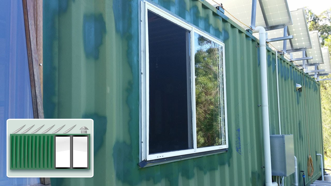 Shipping Container house – Second kitchen window - YouTube