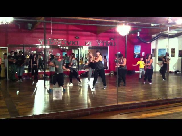 Tari Shen taking Leslie Scott's Class at Millennium Dance Complex