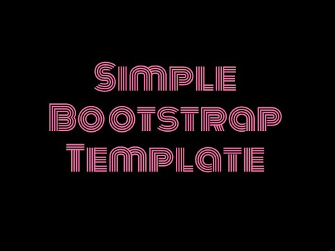 Simple Bootstrap Template - Free HTML Website Templates