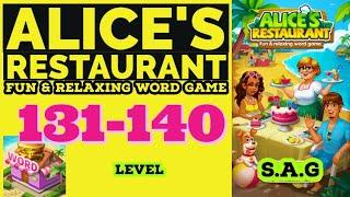 Alice Restaurant Word Game level 131 132 133 134 135 136 137 138 139 140 answer gameplay Full Story screenshot 5
