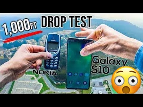 dropping-samsung-smartphone-vs-nokia-from-1000-feet-|-samsung-galaxy-fold-drop-test-|-amazing-test