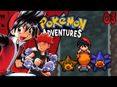 Pokemon Adventures Red Chapter Part 3 -  BROCK & MISTY Rom hack Gameplay Walkthrough