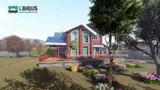 Проект загородного дома из клееного бруса