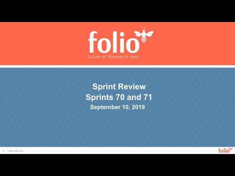 FOLIO Sprint Review 70-71