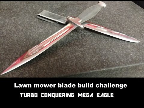lawn mower blade commando knife MOWERMANDO - YouTube