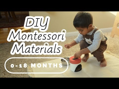 DIY Montessori Baby Materials — 0-18 Months