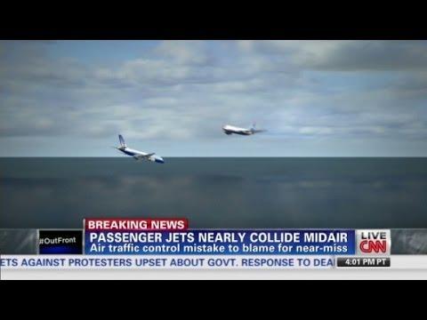 Air traffic control responsible for near mid-air collision