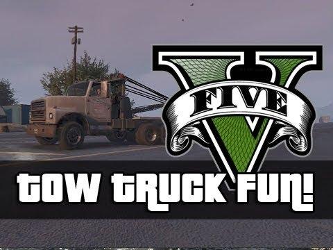 Gta v funny tow truck moments next gen,...
