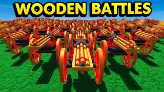 NEW GATLING GUN UNIT IN WOODEN BATTLES (Wooden Battles Funny Gameplay)