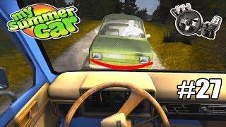 My Summer Car - O DOIDO DO CARRO VERDE MANDOU UM ABRAÇO! :@ #27 (G27 mod)