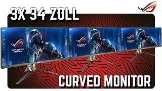 curved gaming monitor rog pg348q mit 100 hz und g sync