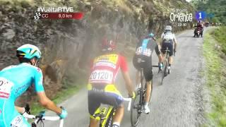 Etapa 20 Puerto de Ancares primeros kilometros Vuelta a España 2014