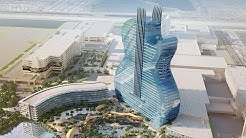 The World's first Guitar shaped Building : Giant Glass Tower : Seminole Hard Rock : Iconic hotel